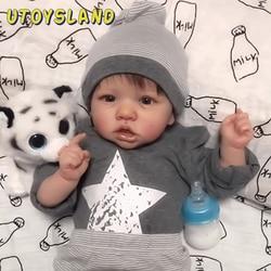 22 pouces Daniel Rayburn Reborn bébé poupée avec des vêtements complets formation jouet pour enfants jouets éducatifs cadeau d'anniversaire-corps en tissu