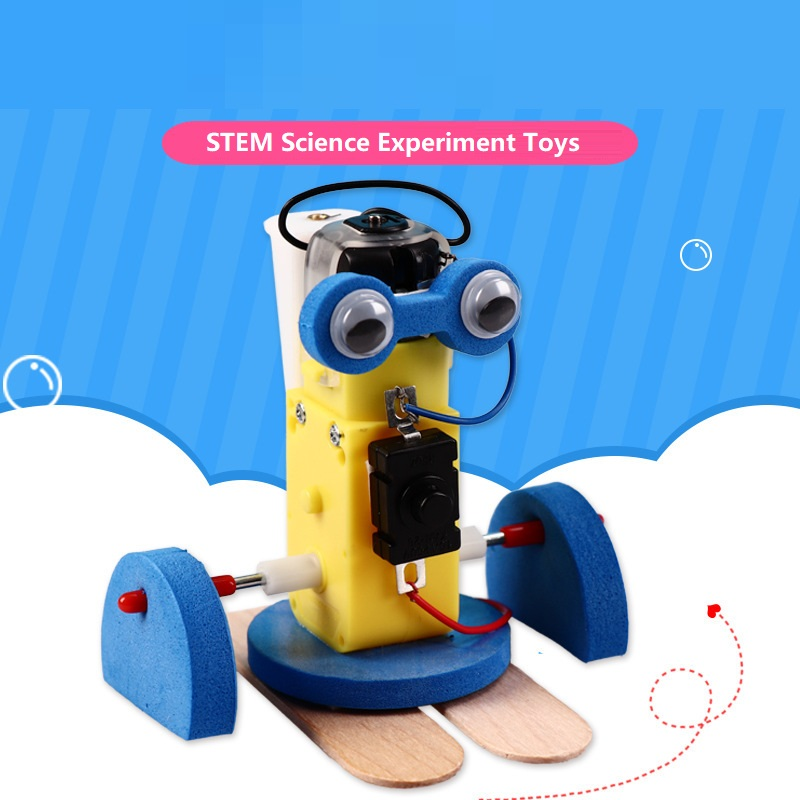 Walk Robot Model Kits DIY Kids STEAM Science Experiment Toys Electric Walking Swing Robot Educational Scientific Experiment Toys