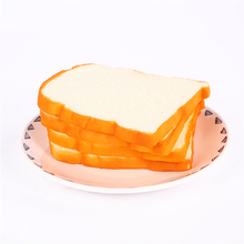 100PCS Jumbo Squishy Sliced Toast kids Toy Mobile Phone Strap Soft Bread Scented Funning Hand Pillow Gift Home Kitchen Decor