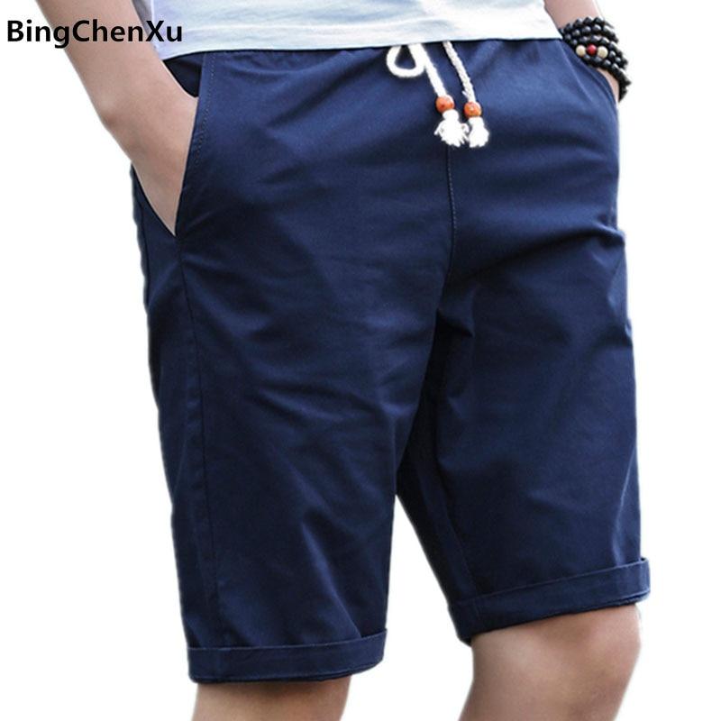 2019 Short Men Summer Shorts Men Casual Fashion Mens Breathable Short Pants Cotton Shorts Man New Fashion Brand Joggers Male 01