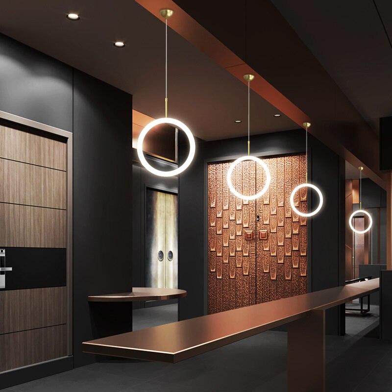 NEO Gleam Kronleuchter Suspension leuchte Für esszimmer bar shop moderne led Kronleuchter leuchten hanglampen Gold Farbe