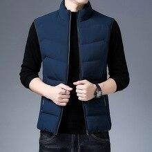 Winter Vest Waistcoat Men Jacket Chaleco Warm Thicken Casual Cotton Sleeveless 4XL Youth