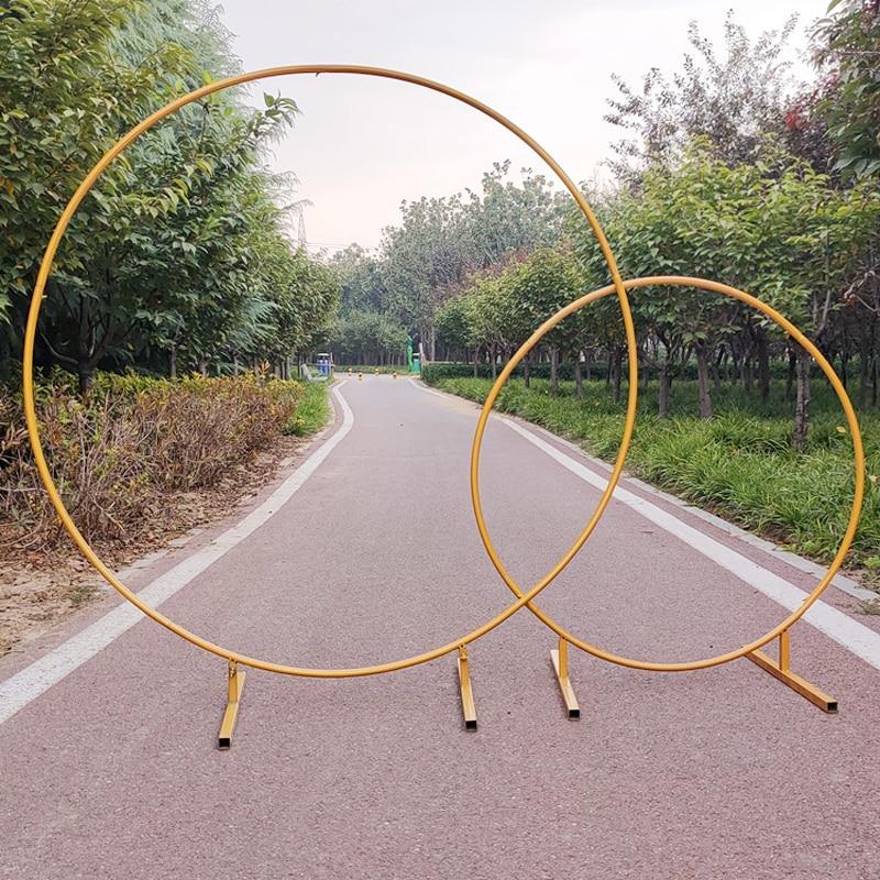Mariage anniversaire fête circulaire arc diamètre 1.0 ~ 2.5 mètres bricolage décoration fond accessoires fête fond cadre avec des fleurs