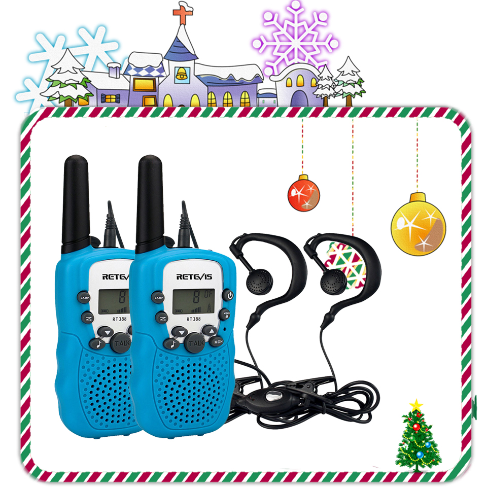 2pcs Mini Two Way Radio Retevis RT388 Children's Walkie Talkie PMR446 PMR FRS/GMRS Handy Transceiver Kids Woki Toki+2pcs Headset