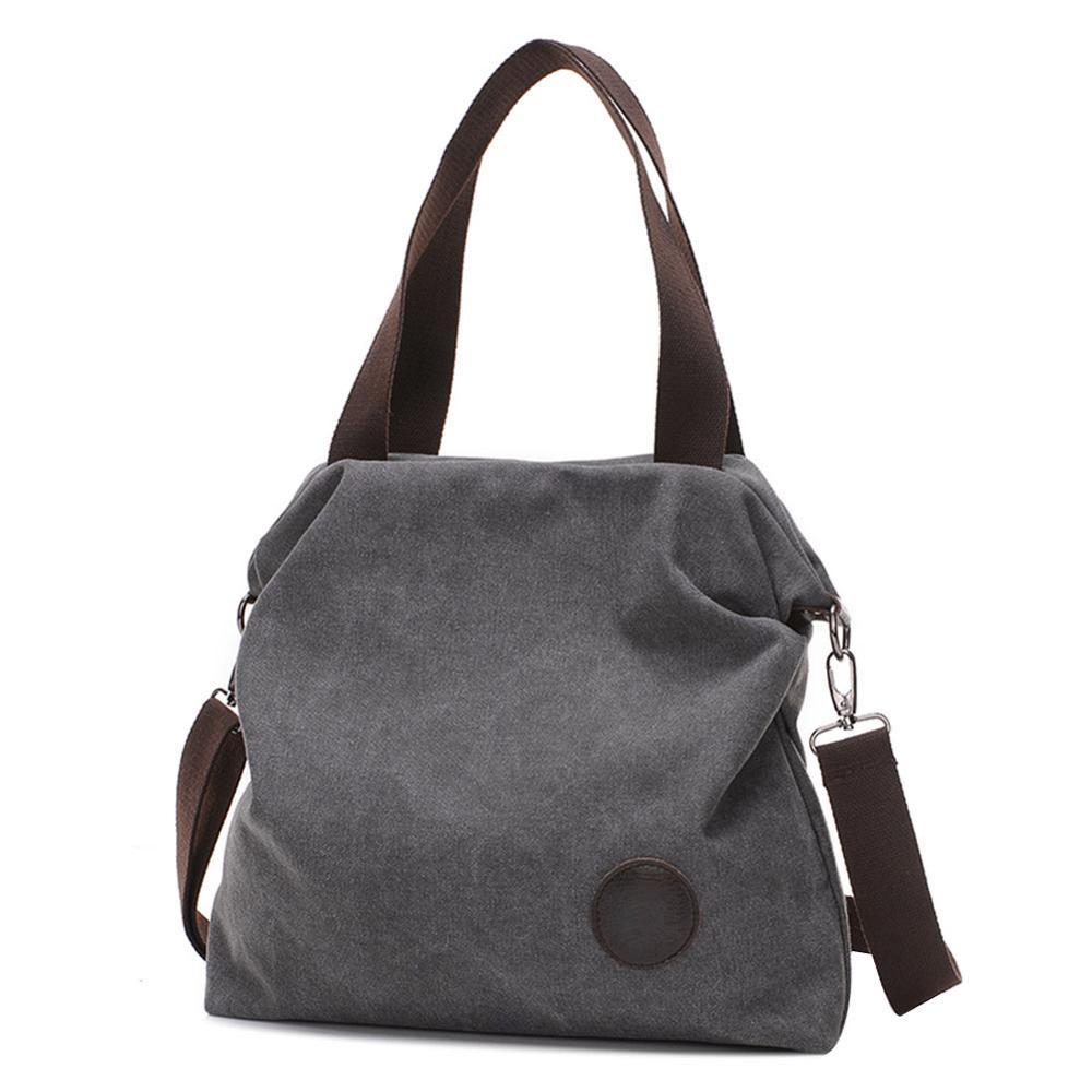 Vintage Large Capacity Satchel Totes Women Casual Shoulder Messenger Handbags Canavs Crossbody Bags Bolsos Mujer De Marca Famosa