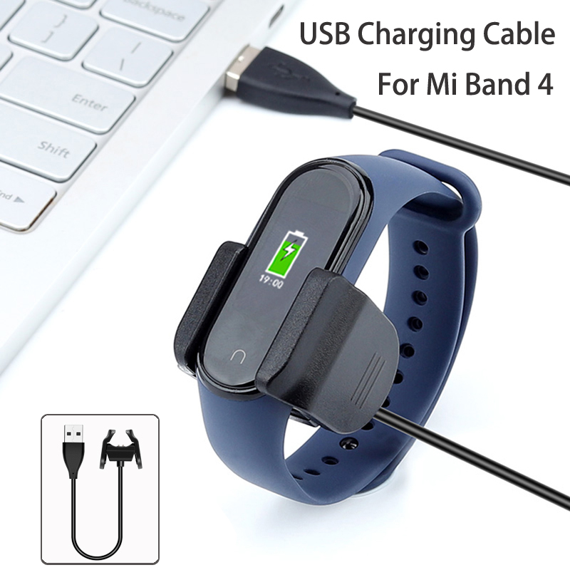 For Xiaomi Mi Band 4 USB Charging Cable Replacement Charger Adapter Cable Clip Accessories MiBand 4 Charging Line Charge Without