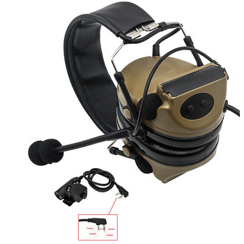Tactical COMTAC II anti-noise sound amplification electronic noise reduction shooting headphones and tactical PTT U94 PTT  DE tactical comtac ii anti noise sound amplification electronic noise reduction shooting headphones and tactical ptt u94 ptt de