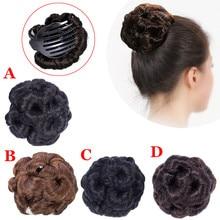 Женский парик волосы невесты макияж булочка кольцо кудрявые цветы шиньон Chouchou Cheveux Femme аксессуары для волос