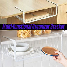 Кухонный Органайзер под полку сетчатая корзина стеллаж для шкафа