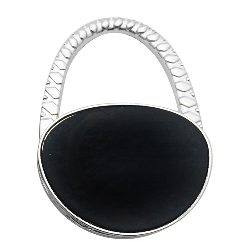 Hand Painted White Canvas Shoes Table Hook Folding Bag Desk Hanger Foldable Holder
