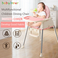 Babyinner Baby Dining Chair Multi functional Foldable Portable Children Eating Table Infant Plastic Dining Tables And Chairs