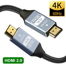 4K HDMI-compatible Cable HDMI2.0 Splitter Switch Extend Cable Dolby for PS4 HD TV Xiaomi Mi Box DTS Audio Video Cable HDMI 2.0