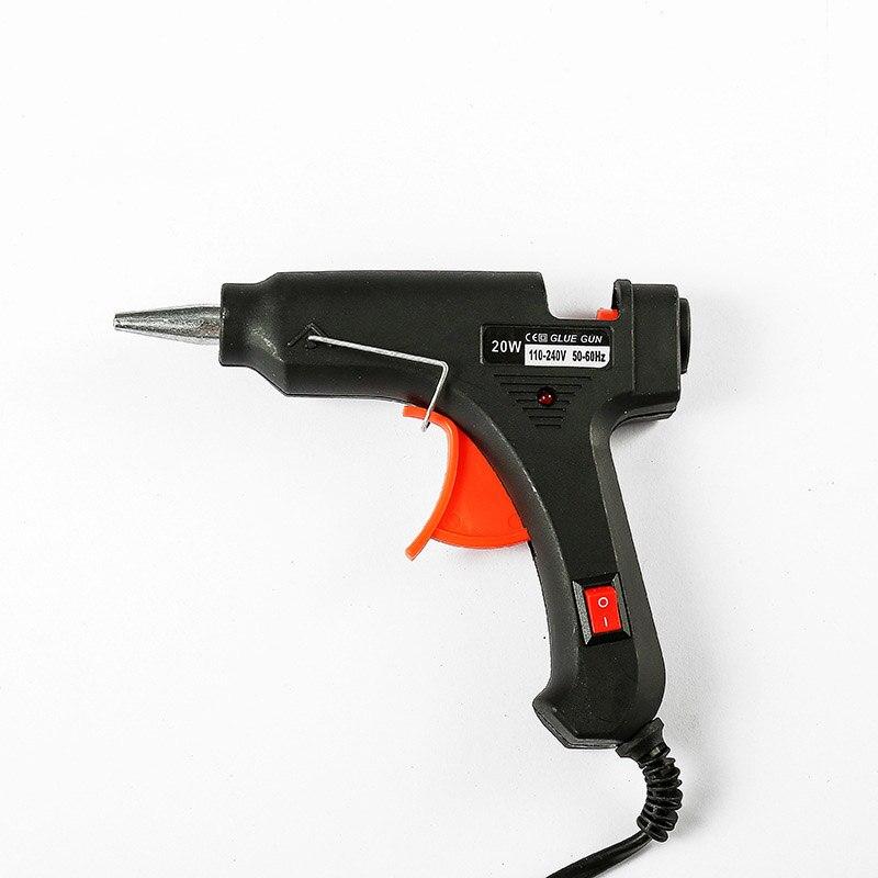 20W Hot Melt Glue Gun Glue Stick Mini Guns Thermo Electric Heat Temperature DIY Craft Tool 7mm Hot Melt Glue US EU Plug Sticks