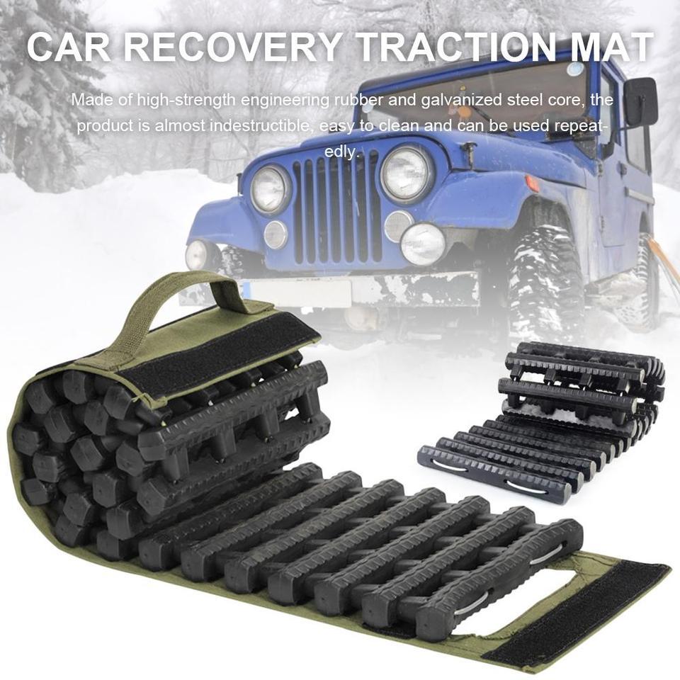 Tama/ño:60/cm x 18/cm x 1,25/cm cami/ón para rescate en nieve barro arena 2 unidades furgoneta Juego de pistas de tracci/ón para coche