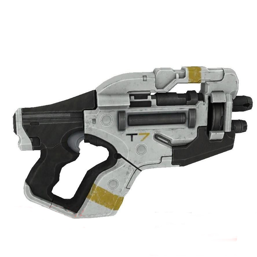 Mass Effect 3 M358 Claws Pistol 1:1 Scale Paper Model 3D Handmade DIY Children Toy For Cosplay