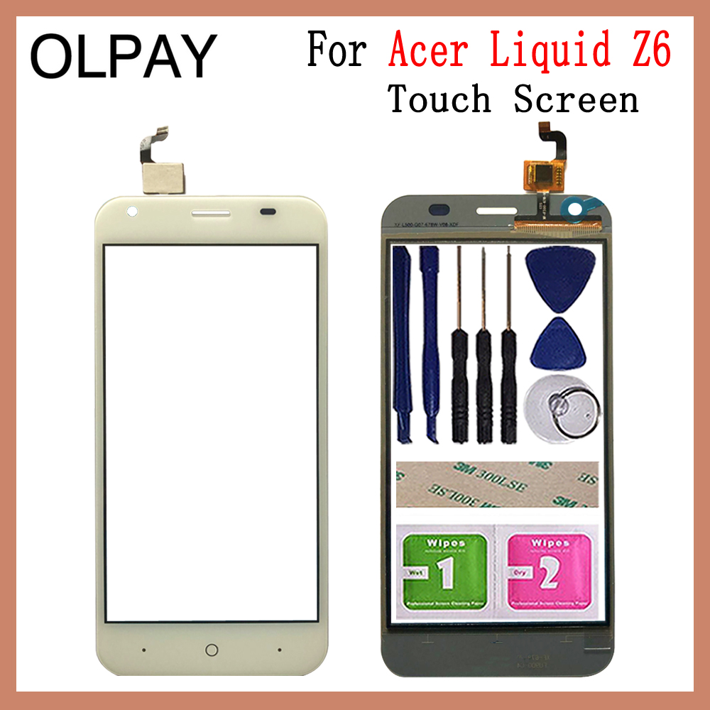 Mobile Phone Touch Screen 5.0'' Inch For Acer Liquid Z6 Touch Screen Digitizer Sensor Outer Glass Lens Panel Replacement