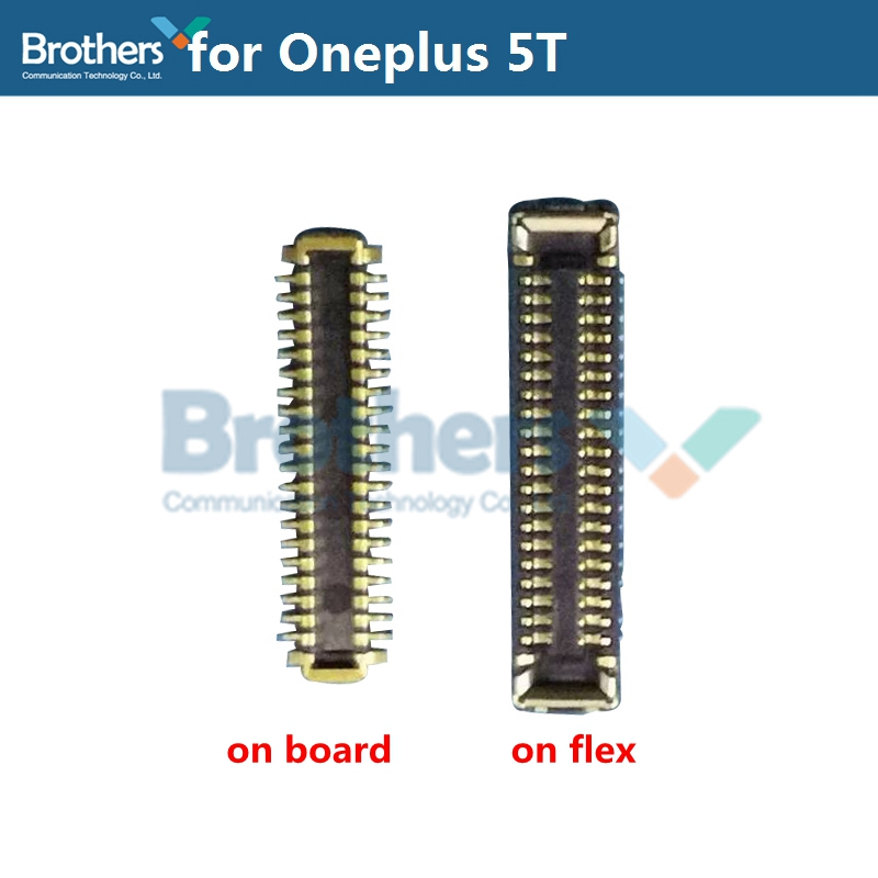1 Pair USB Charging Dock <font><b>FPC</b></font> for Oneplus 5T <font><b>FPC</b></font> <font><b>Connector</b></font> USB Port Charger Dock Plug Phone <font><b>Repair</b></font> Part Replacement Part AAA Test image