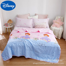 Original Disney children's washed cotton air-conditioning quilt summer thin quilt single thin summer cool quilt Double washable