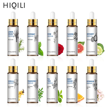 HIQILI Orange Tea Tree Essential Oils 10ML Diffuser Aroma Oil Eucalyptus Vanilla Bergamot Lemongrass Rosemary Chamomile Oil 1