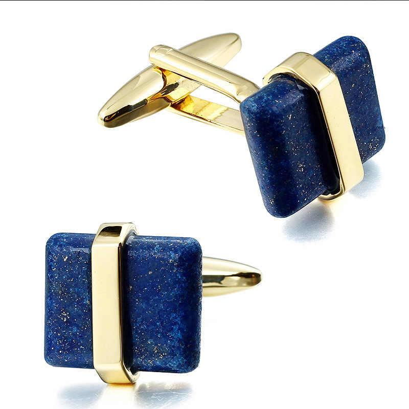 HAWSON חפתים לגברים טבעי אבן חפתים יוקרה באיכות גבוהה חתונה כפתור שרוול אופנה גברים של תכשיטים