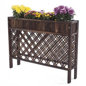 Jardinera de madera Para interiores, maceta, estantería Para exteriores, soporte Para flores,...