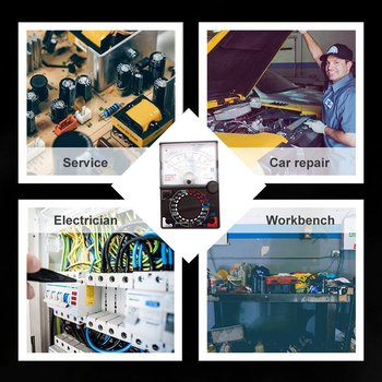 yx 360trn analog multimeter plastic gauge shell ac dc volt ohm current testing mutimeter electrical