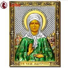 Blind Saint Matron pattern 5d diamond painting portrait diy Diamond Embroidery Cross Stitch Religious icon gift,new arrival art