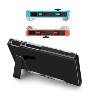Image 3 - Crystal Transparent Clear PC Hard Case Protective Cover Shell for Nintend Switch Console Joy Con Controller Full Body Protector