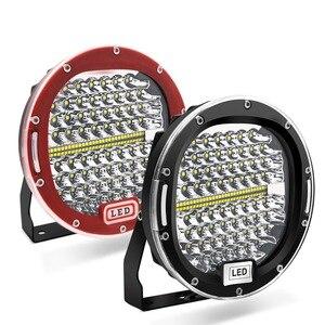 Image 1 - 2 stücke 7 Zoll 300W 5X7 7X6 LED Arbeit Licht Spot Strahl Runde Offroad Fahr Licht Für ATV UAZ SUV 4x4 Lkw Traktor Boot Wrangle