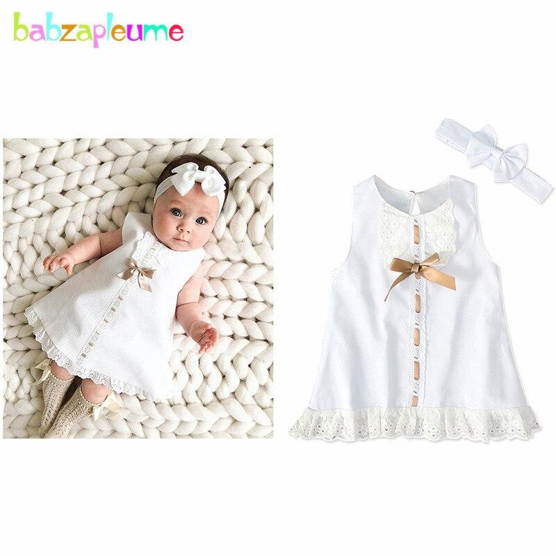 2020 Summer Clothing Set Newborn Baby Clothes Cute Party Princess Dress Bow Sleeveless 1st Birthday Infant Girls Dresses BC1100