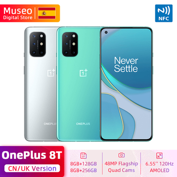 Neues Global ROM OnePlus 8T 8 T Smartphone Snapdragon 865 5G 6.55'' 120Hz Fluid Display 48MP Vierfach-Kamera Warp Charge 65 NFC
