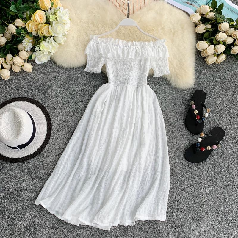 Платье OCEANLOVE женское с плиссированной юбкой и открытыми плечами