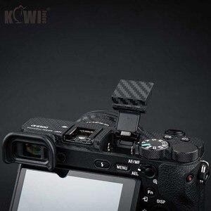 Image 5 - Anti Slide Kamera Körper Carbon Faser Film Kit Für Sony Alpha A6500 + SELP1650 16 50mm Objektiv anti Scratch Haut Abdeckung 3M Aufkleber