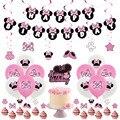 1 комплект воздушные шары с изображением Минни Микки и Минни Маус Мышь День рождения Декор Детский праздничный костюм баннер торт топпера, ...