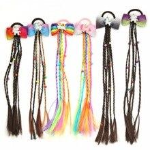 Hair Ties Braided Headband Elastic Girls 1PC Bohemian Unicorn for Kid Hair-Accessories