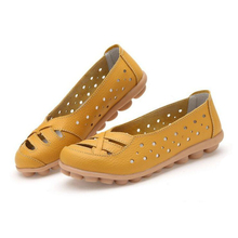 High Quality Shoes Women Flats Casual Loafers Woman Genuine Cow Leather Shoes Ladies Fashion Slip-on Non-slip Female Sneakers beau genuine cow leather loafer shoes women new fashion bowknot fur wool lining slip on casual flats 27807