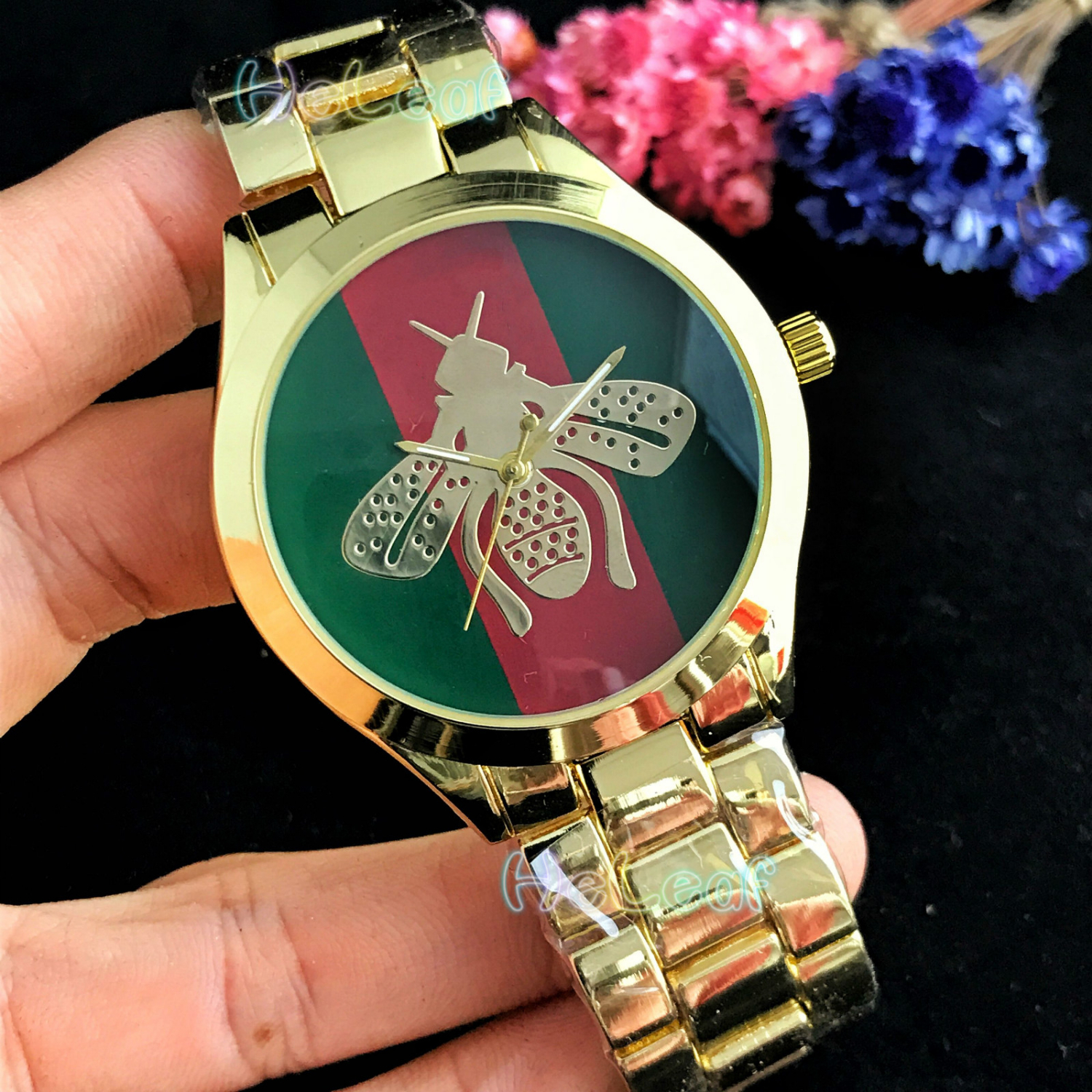 Fashion Silver Gold Stainless Women Bee Watch Quartz Wrist Watches Ladies Girls Famous Brand Female Clock Montre Femme Reloj