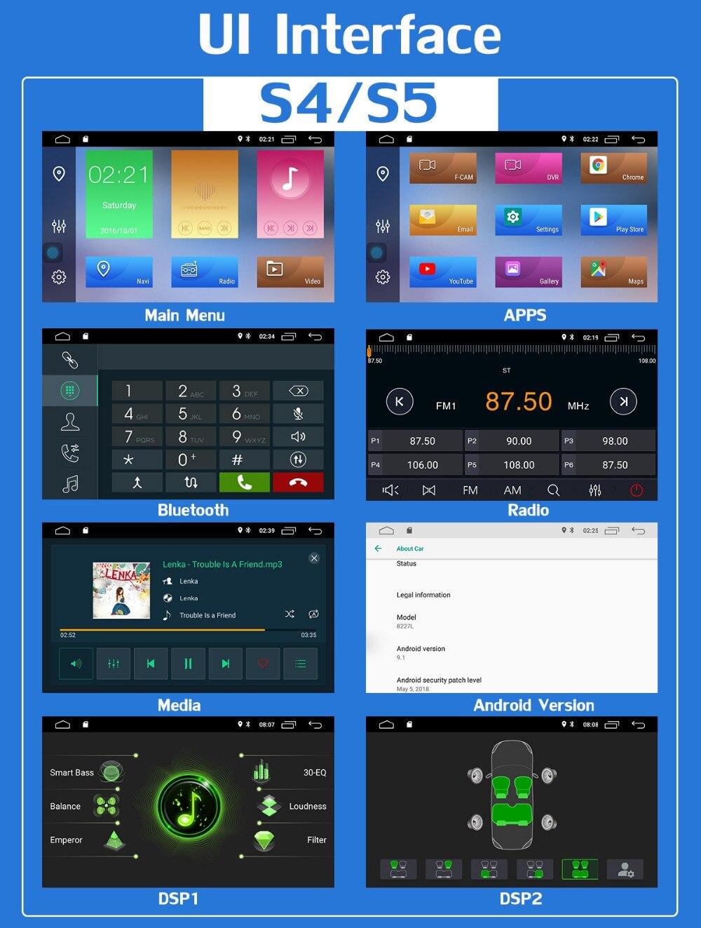 "Clearance 7"" PX6 4G+64G 2 Din Android 9.0 Car DVD Multimedia Player For KIA Ceed 2009 2010 2011 2012 Venga Radio GPS Navigation DSP CarPla 19"