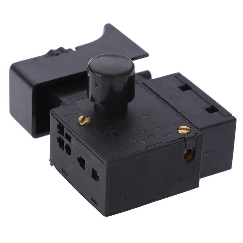 Electric drill controller <font><b>FA2</b></font>-<font><b>6</b></font>/<font><b>1BEK</b></font> 250V 6A Red Lock On Power Tool Electric Drill Trigger Switch Electric tool fittings switch image