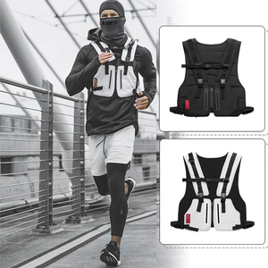 Image 3 - Multi function Tactical Chest Bag Vest Outdoor Sports Fitness Men Protective Reflective Tops Vest Oxford Phone Waistcoat