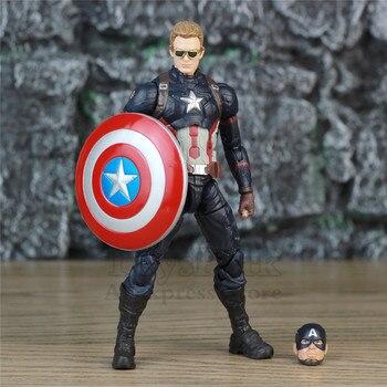 "Vengadores Capitán América 6 ""figura de acción KO's Marvel Legends personalizado Steven Rogers 1/12 1:12 cabeza gafas de sol juguetes para muñeca"