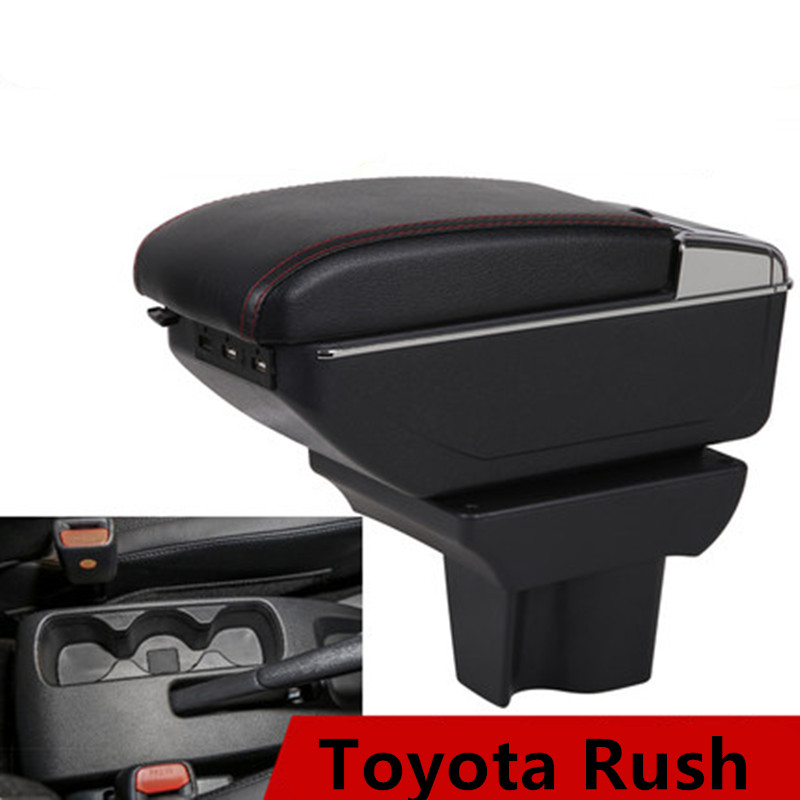 for Toyota Rush armrest box universal car center console modification accessories double raised with USB