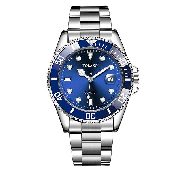 Montres à Quartz de haute qualité pour hommes montre-bracelet à Quartz de calendrier vert de marque supérieure pour hommes horloge en acier de luxe étanche reloj hombr 10