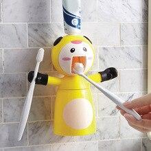 Дозатор зубной пасты настенный дозатор зубной пасты с чашкой все-в-1 Зубная щётка держатель DIN889