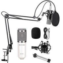 BM-800 kit profissional microfone condensador bm800: microfone para computador + montagem em choque + tampa de espuma + cabo como bm 800 microfone