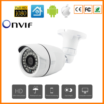 2MP Aluminum HD IP Camera H.265 1080P Outdoor Waterproof Security CCTV Camera 24 IR Leds Night Vision Camera Onvif POE Optional цена 2017