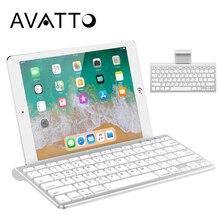 AVATTO, 78 клавиш, ультра тонкая Bluetooth 3,0, Беспроводная мини-клавиатура с подставкой, держатель для планшета, ipad, iphone, настольный ноутбук, ПК