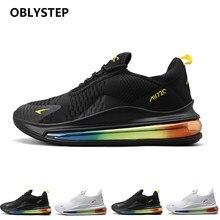 OBSTESTEP-Zapatillas deportivas para hombre, calzado deportivo para exteriores, transpirables y grandes, con cojín de Palma de aire, Max 720