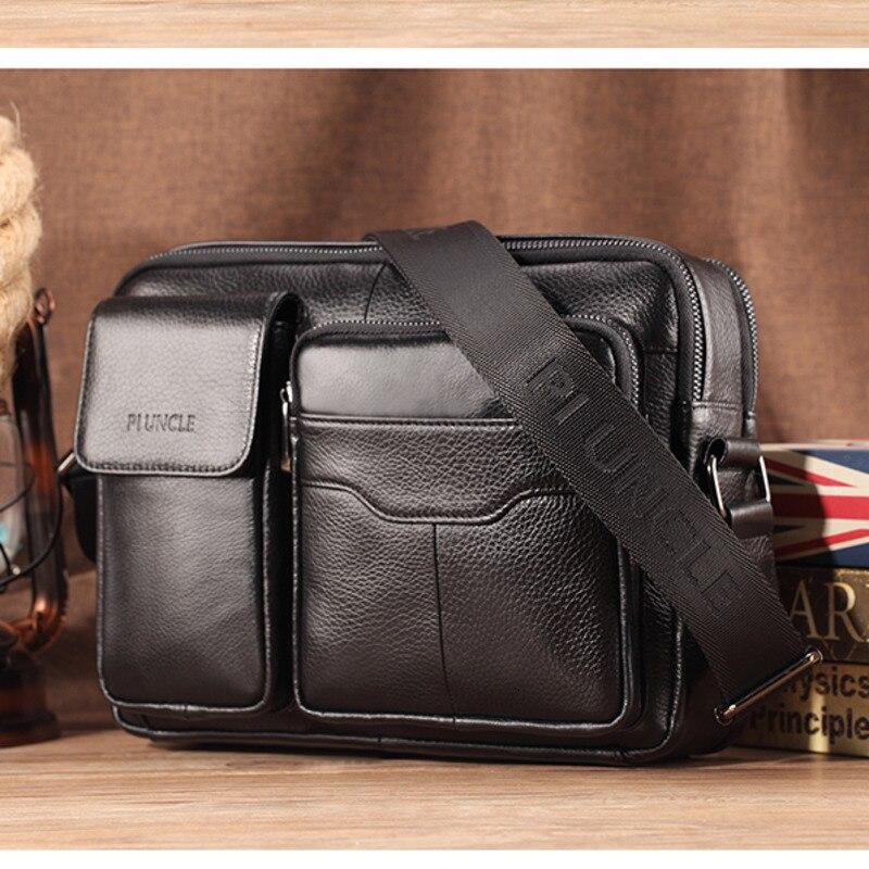 Echtes Leder männer Schulter Messenger Taschen Für Mini IPAD Mann Kreuz Körper Casual Business Aktentasche Für 10,5 Zoll IPAD handtaschen