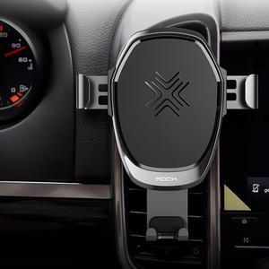 Image 5 - ROCK araç montaj Qi kablosuz araç şarj için iPhone X 8 artı hızlı kablosuz şarj pedi держатель для телефона